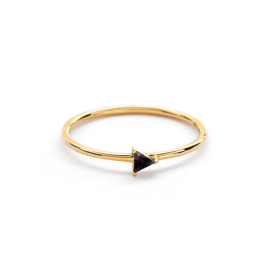 Kat triangle ring (black tourmaline)