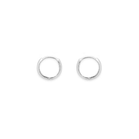 Katie hoops (white gold)