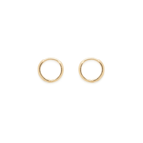 Katie hoops (yellow gold)