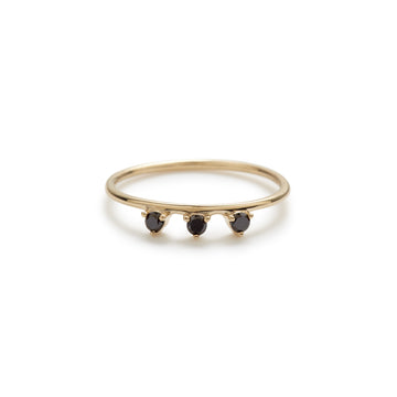 Lily ring (black diamond)