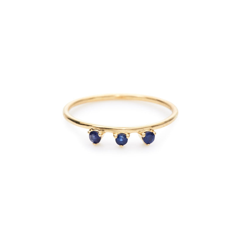Lily ring (blue sapphire)