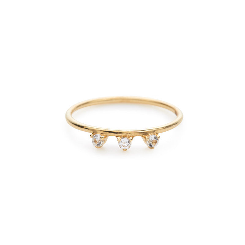 Lily ring (white topaz)