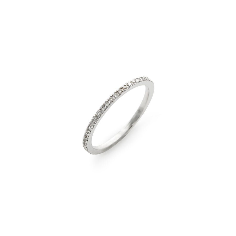 Liz midi or pinky ring (white diamond)