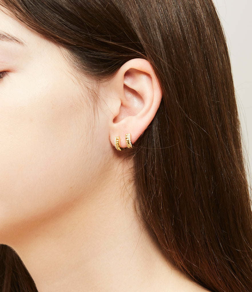 Ludwig hoop earrings (gold or silver)