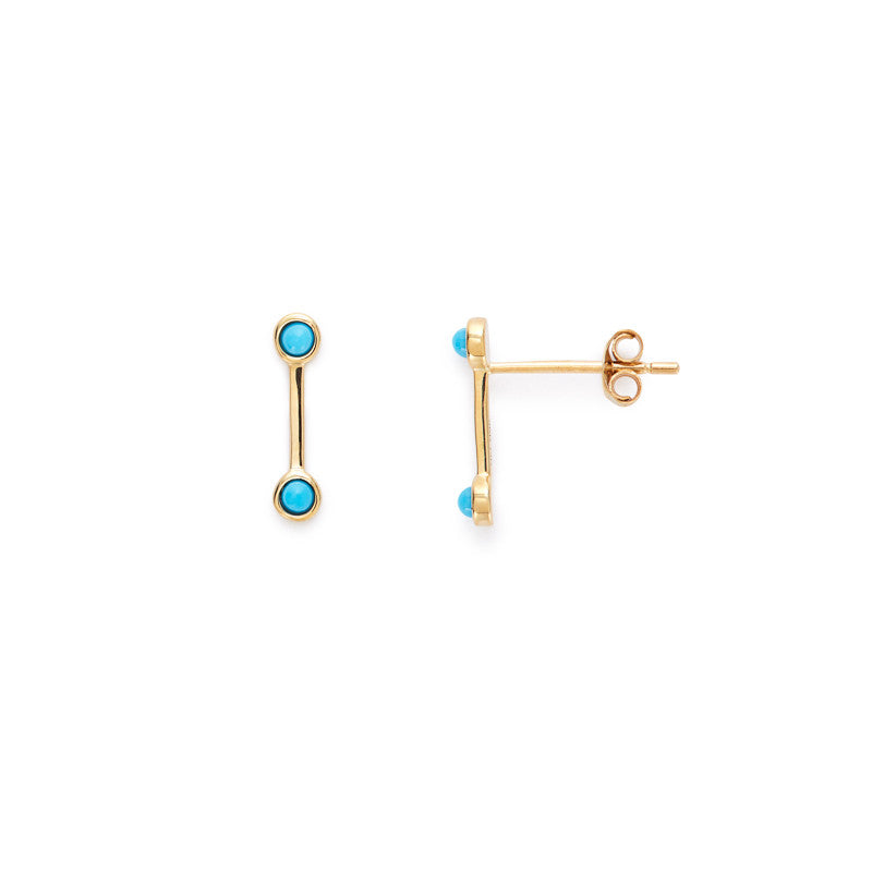 Maggie studs (turquoise)