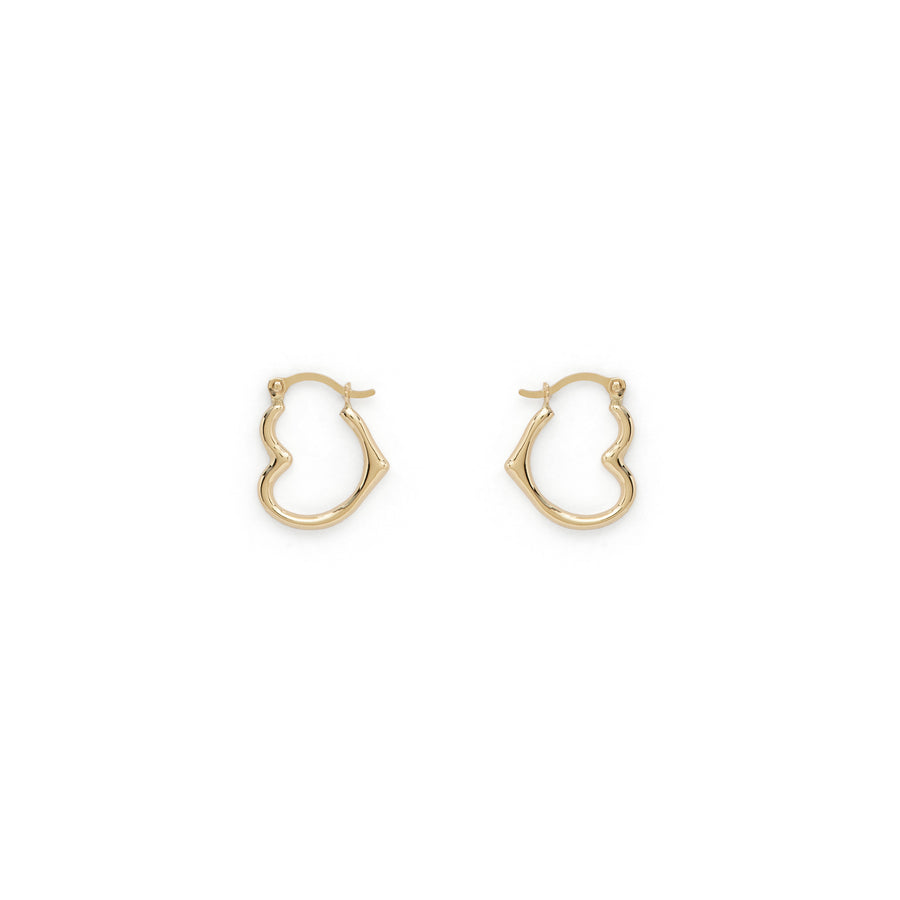 Ruth heart hoops (14k gold)