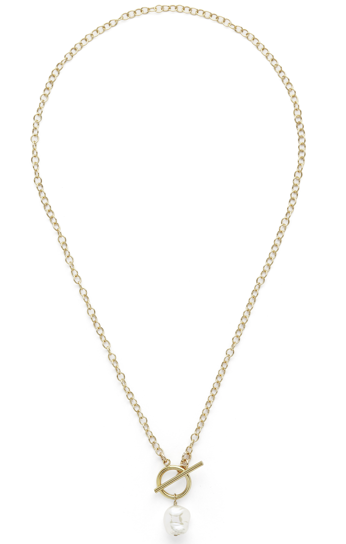 Linda pearl toggle necklace