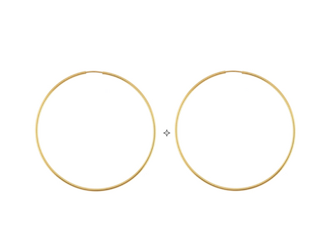 Louis hoops (gold or silver)
