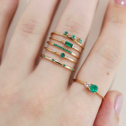 Emily ring (emerald)