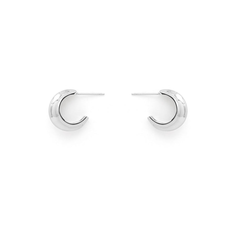 Logan ridged hoop earrings