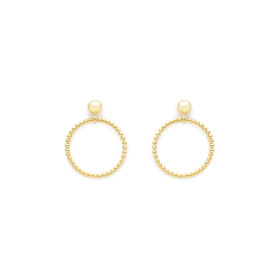 Sunset hoops (gold or silver)