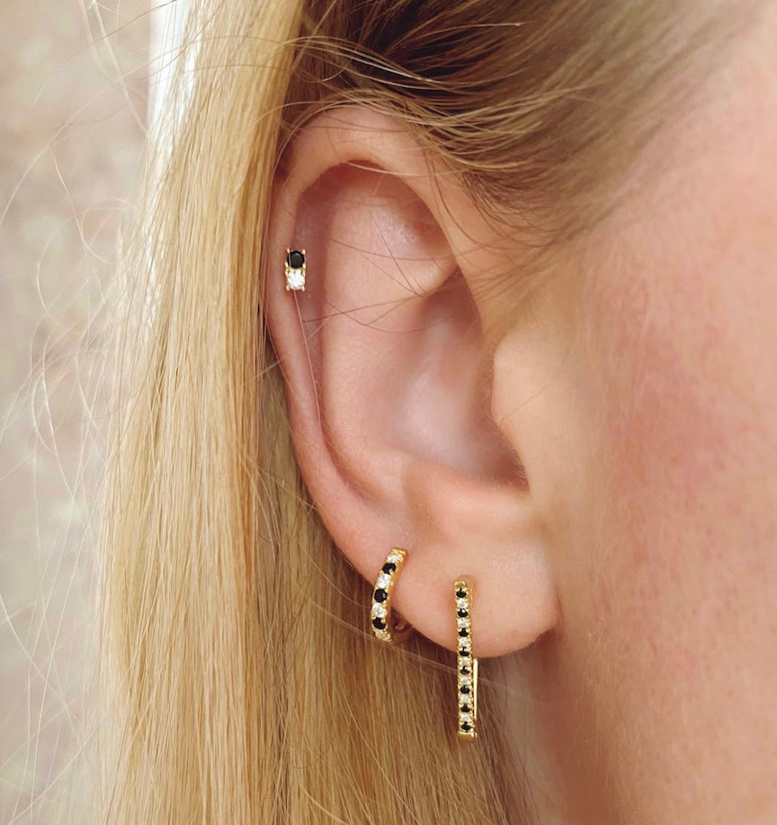 Claude stud earrings (gold or silver)