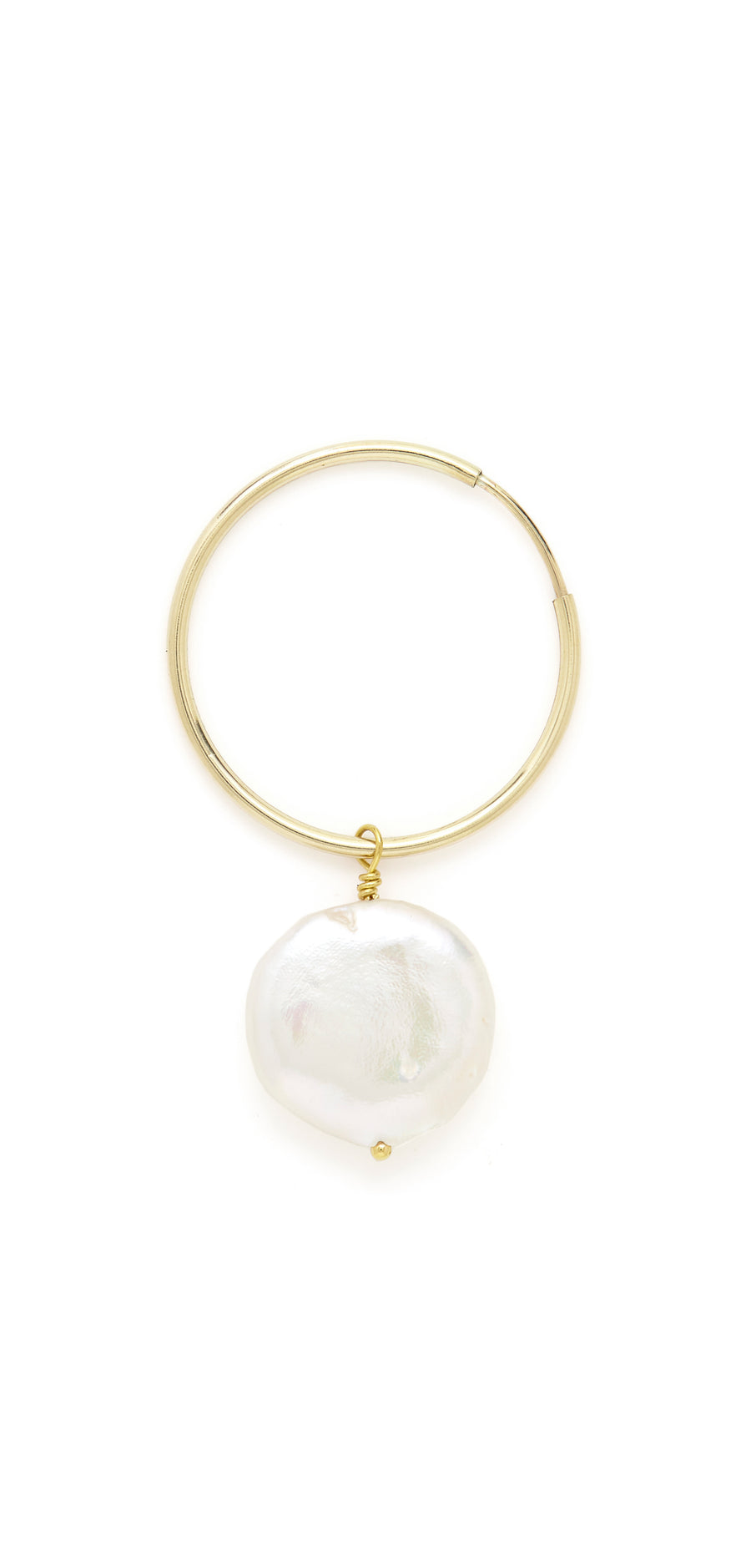 Coco freshwater pearl hoops