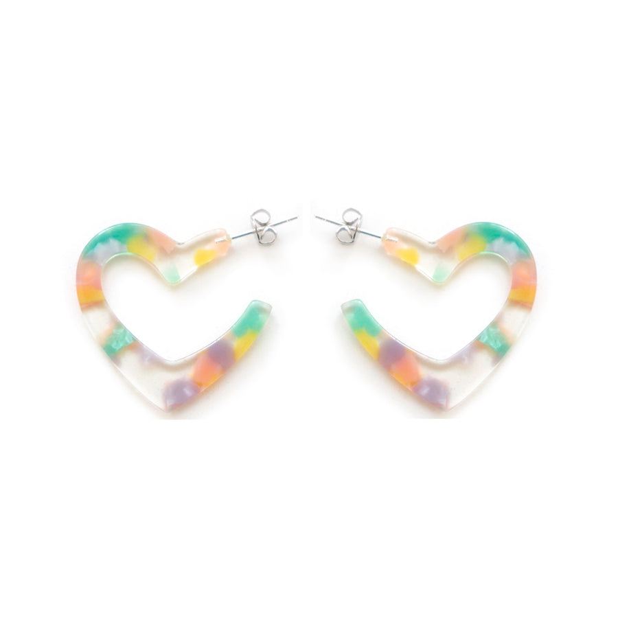 Gazoo heart earrings