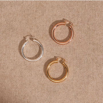 Jones hoops (gold, rose gold, or silver)