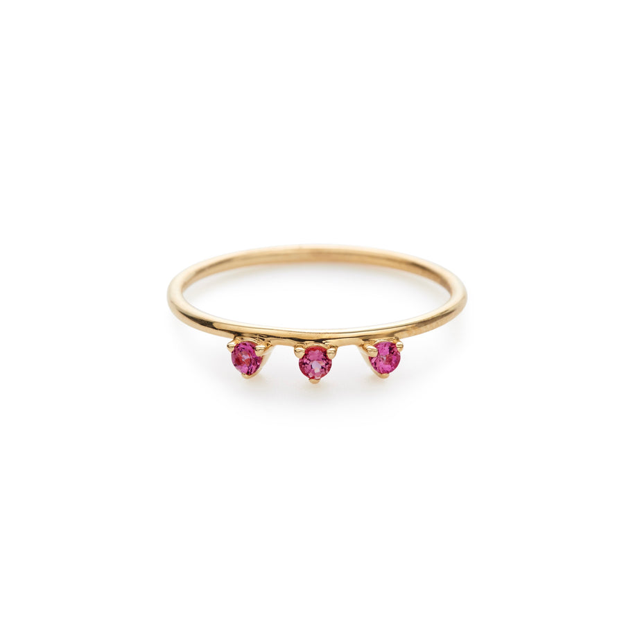 Lily ring (rubies)