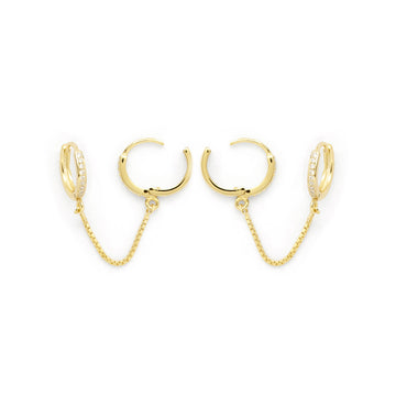 Bardi pave earrings (gold or silver)
