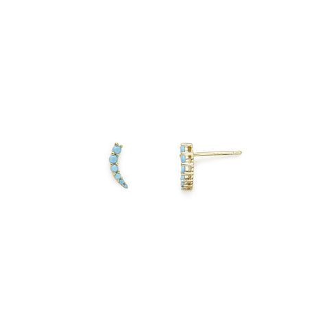 Playa Azul earrings (turquoise, gold and silver)