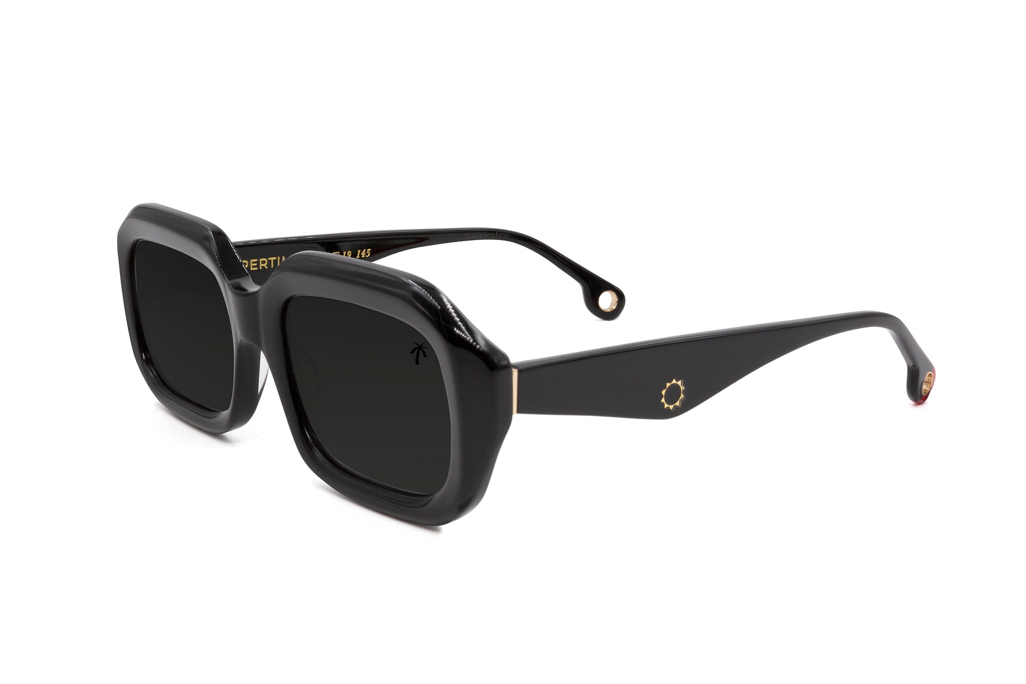 Compton in Black - Peppertint - Designer sunglasses