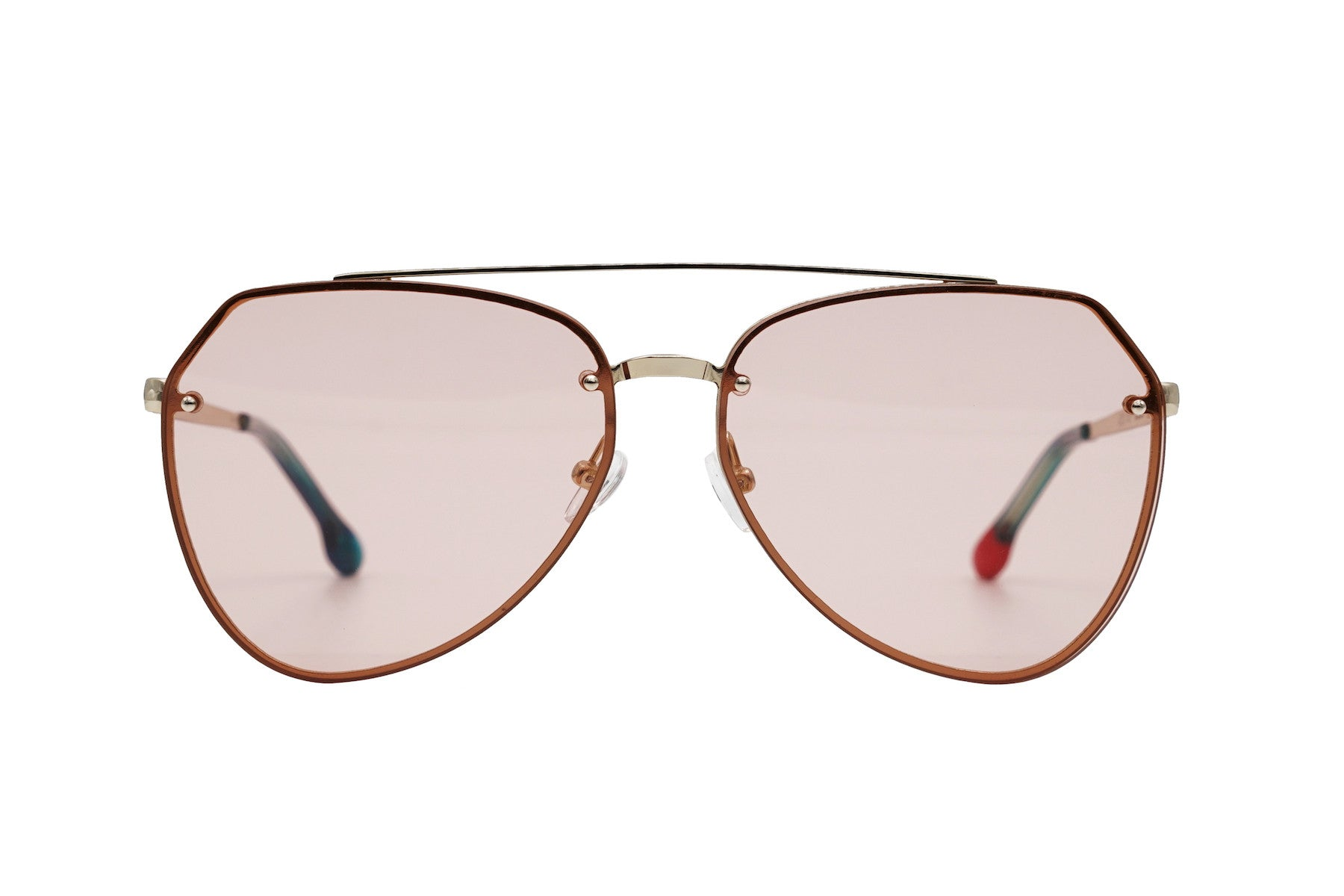 Doheny in Peach - Peppertint - Designer sunglasses