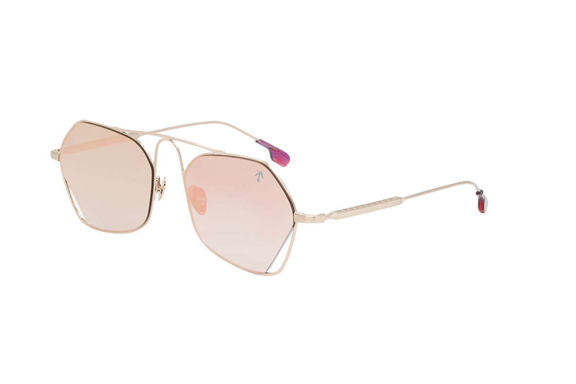 LBC in Rose Gold Mirror - Peppertint - Designer sunglasses