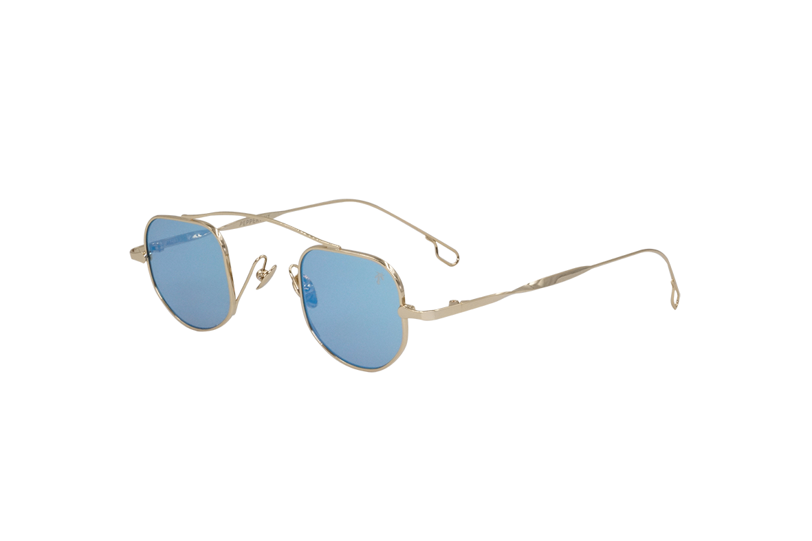 Marina in Matte Blue Mirror - Peppertint - Designer sunglasses