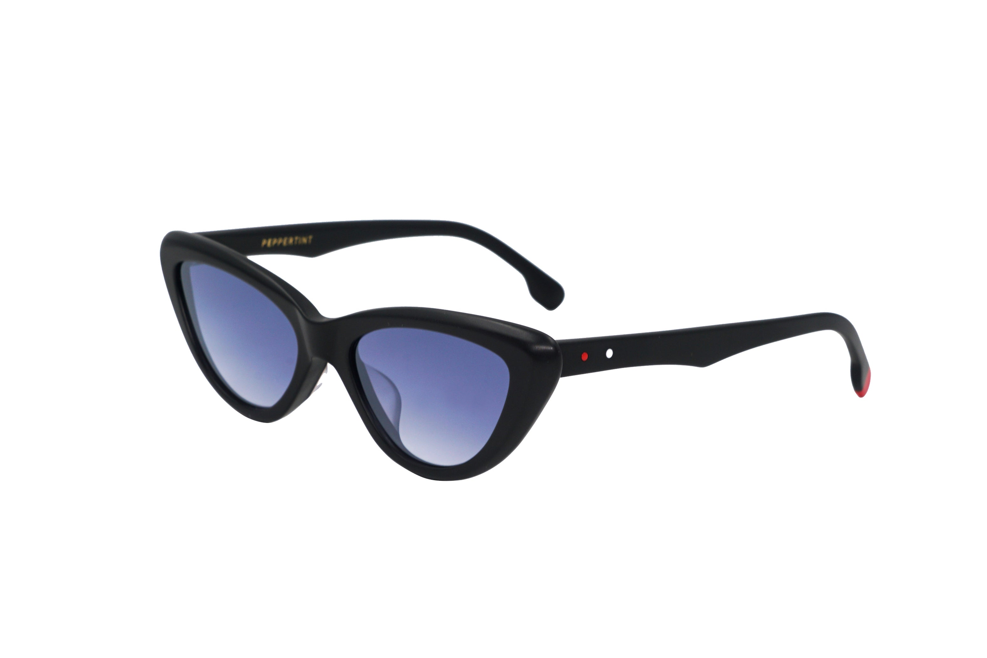 Beverly in Matte Black - Peppertint - Designer sunglasses