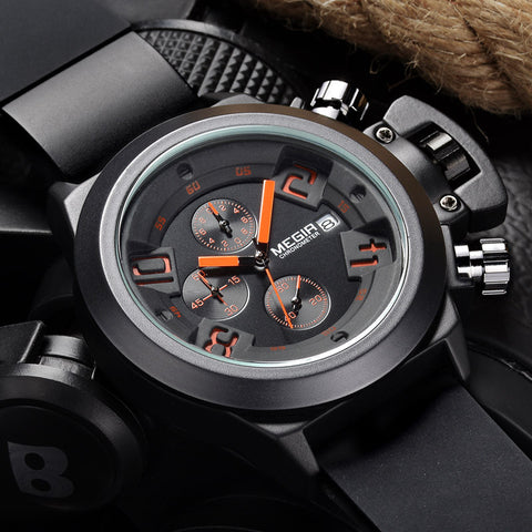 Chrono Silicone Band Sports Watch