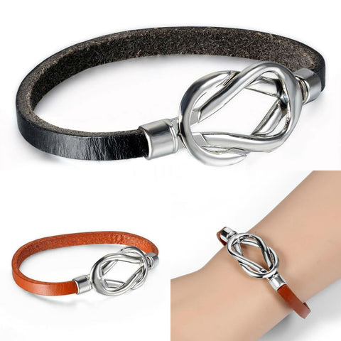Couple Leather Infinity Bracelet