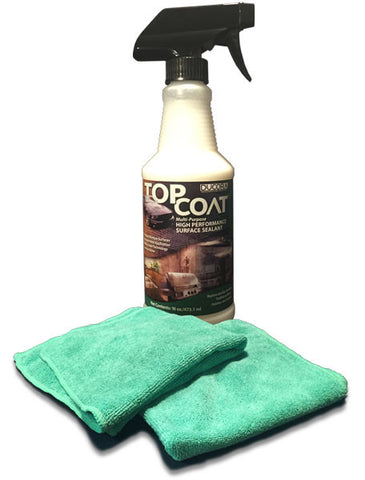 TopCoat® High Performance Surface Sealant + 2 Microfiber Towels