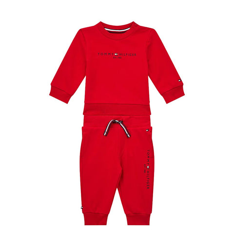 TOMMY HILFIGER - KID'S ESSENTIAL JOGGERS SET DEEP CRIMSON