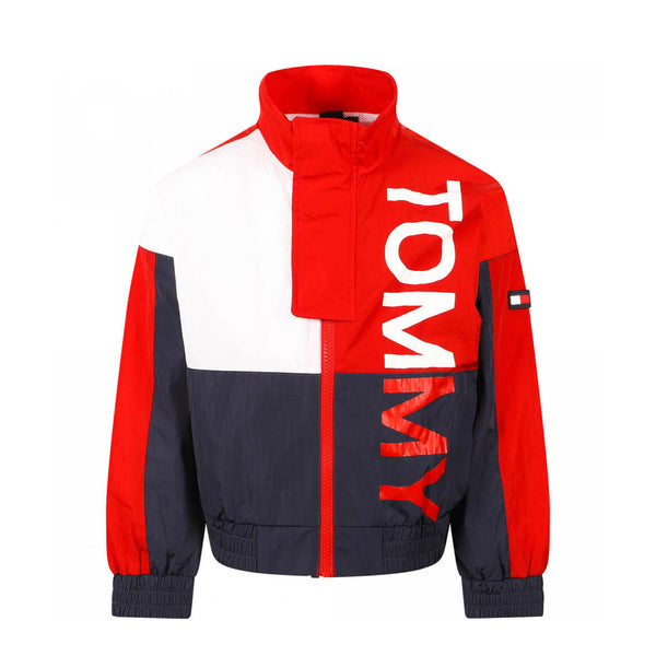 TOMMY HILFIGER - KID'S BOLD TOMMY JACKET CRIMSON/NAVY