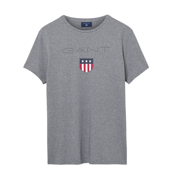 GANT - MEN'S 01 SHIELD SS TEE GREY