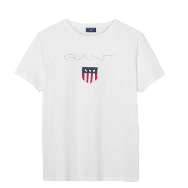 GANT - MEN'S 01 SHIELD SS TEE WHITE
