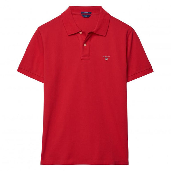 GANT - THE ORIGINAL PIQUE SS RUGGER POLO BRIGHT RED