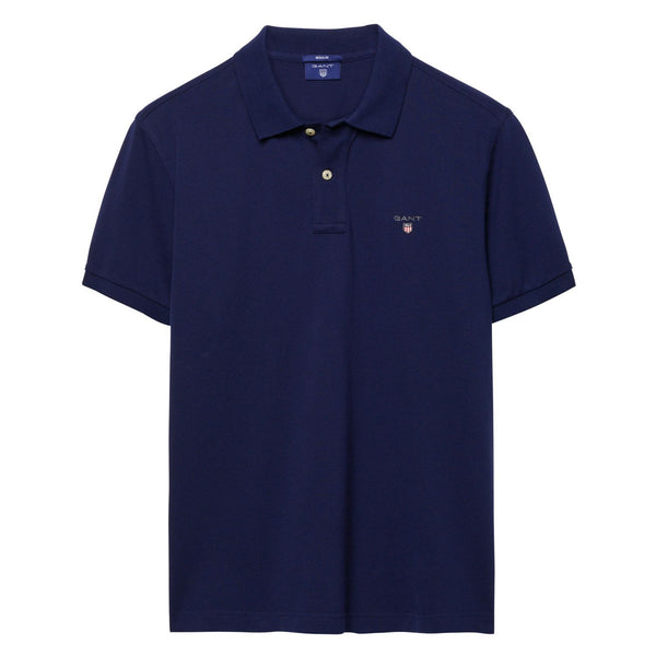 GANT - THE ORIGINAL PIQUE SS RUGGER POLO MARINE