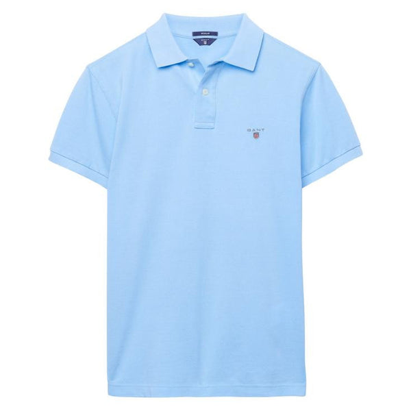 GANT - THE ORIGINAL PIQUE SS RUGGER POLO CAPRI BLUE
