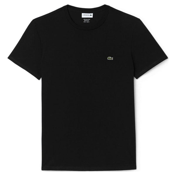 LACOSTE MEN'S PIMA COTTON T-SHIRT BLACK