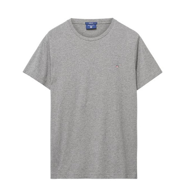 GANT - SOLID TEE LIGHT GREY MELANGE