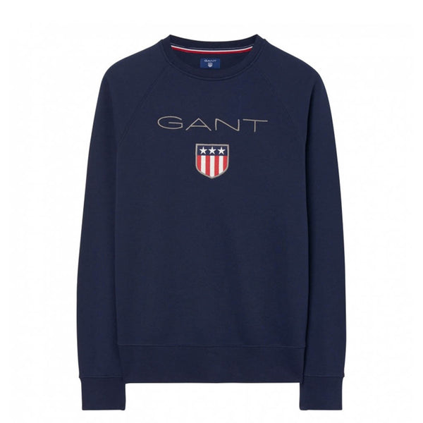 GANT - SHIELD C-NECK SWEAT EVENING BLUE