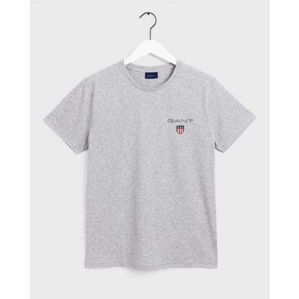 GANT - MEN'S MEDIUM LOGO TEE LIGHT GREY