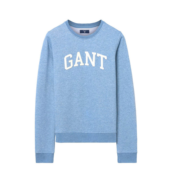 GANT - WOMEN'S ARCH LOGO SWEAT WINTER SKY