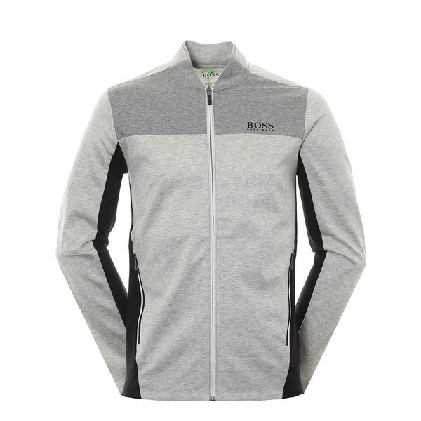HUGO BOSS - 50399307 HOODED ZIP-THROUGH GREY