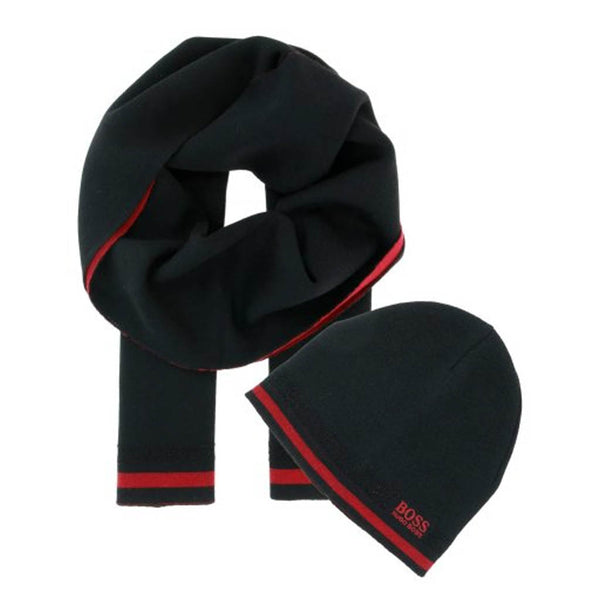HUGO BOSS - BEANIE + SCARF GIFT SET 50418857 RED