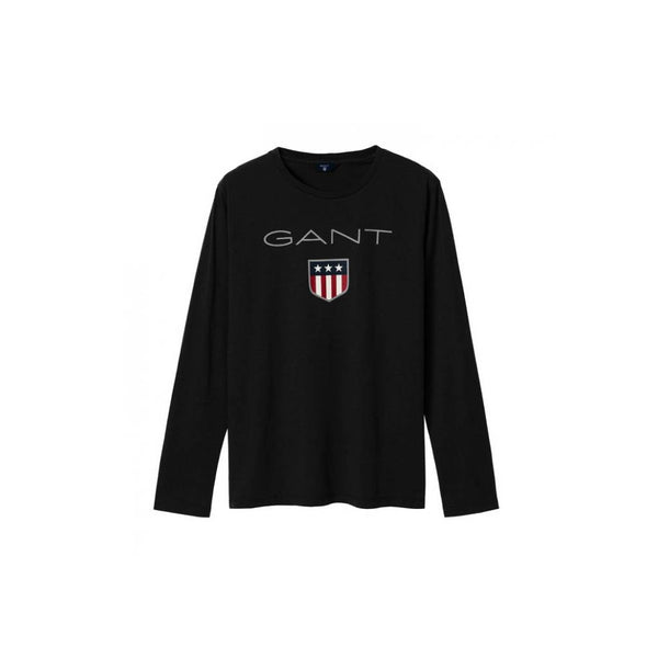 GANT - BOY'S SHIELD LOGO LONG SLEEVE BLACK