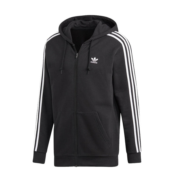 ADIDAS - MENS 3-STRIPES HOODIE BLACK