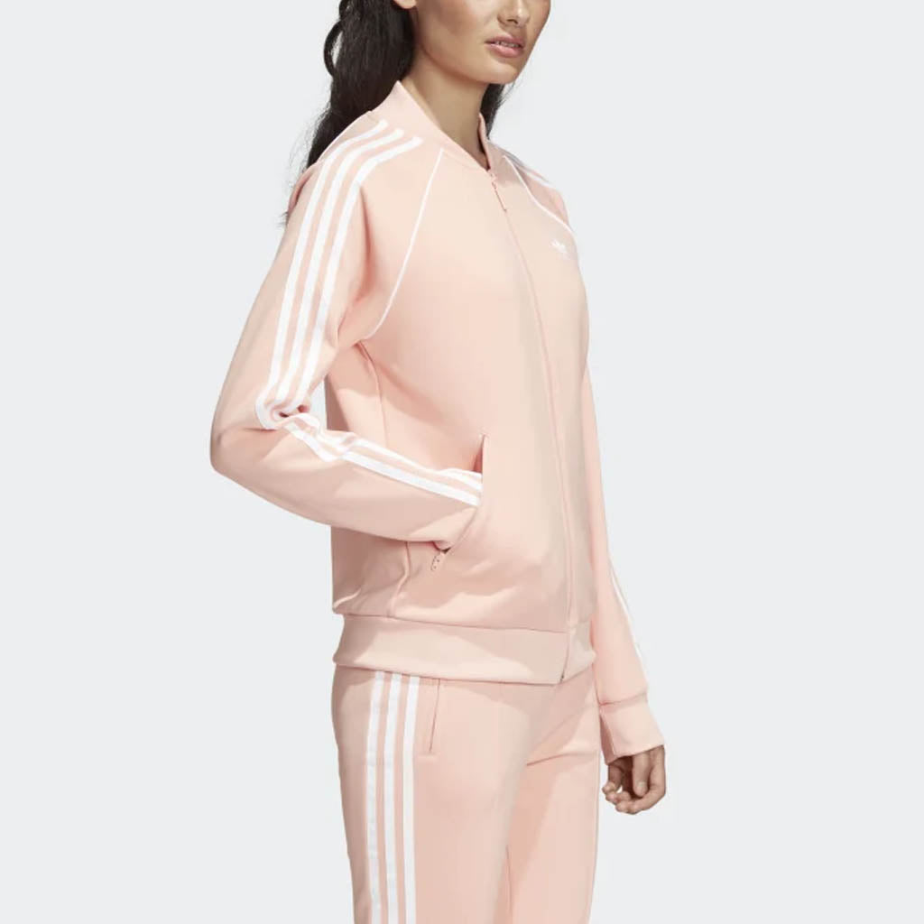 ADIDAS SST Trace Maroon Womens Track Jacket PINK