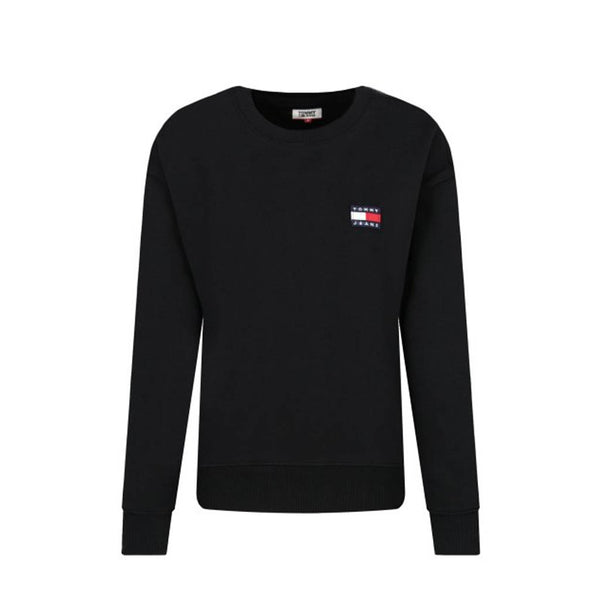 TOMMY HILFIGER - WOMEN'S BADGE CREW SWEATSHIRT BLACK