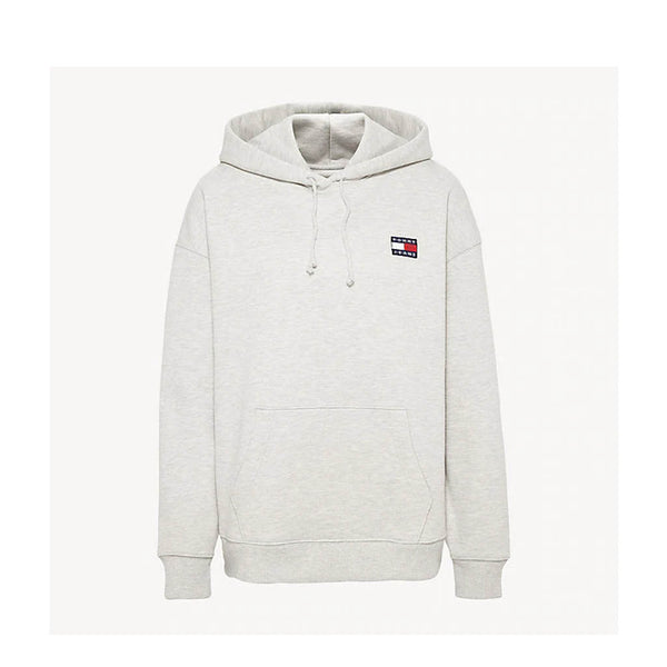 TOMMY HILFIGER - WOMEN'S TJW BADGE HOODIE GREY