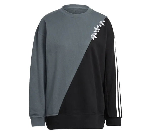 ADIDAS - WOMENS ADICOLOR SLICED TREFOIL SWEATSHIRT